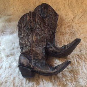 Shoes - 👢Gorgeous Stetson Loaded W Detail Cowboy Boots👢